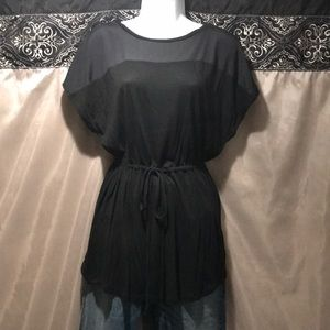 Mossimo boho flowy black small shirt